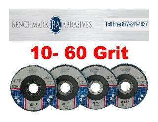 "10 4 5""x7 8 Zirconia Flap Disc Grinding Wheels 60 Grit"