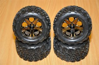 VXL Brushless 6708 Stampede 4x4 Talon Tires Wheels Tire Wheel Set of 4