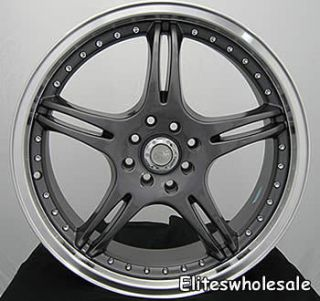 18x8 5 Gunmetal Wheels Rims adr Battle EXE 5x112