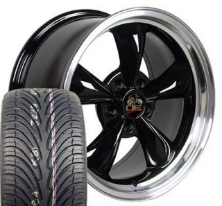 17 Fits Mustang® Bullitt Wheels Rims Tires Black 17x9