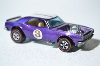 Hot Wheels Redline Heavy Chevy Camaro in Metallic Purple 1969 1970