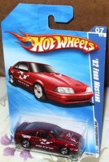 2010 Hot Wheels 07 10 Red 92 Ford Mustang