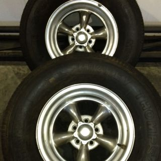 15x10 American Racing Polished Wheels W/ Mickey Thompson Sportsman