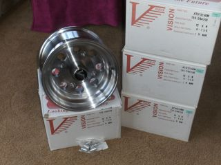 ATV custom rims 12x8 Polaris E Z Go golf cart 4 156 bolt pattern set
