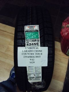 Uniroyal Laredo Cross Country Tour 235 65R16 101T Brand New Tire