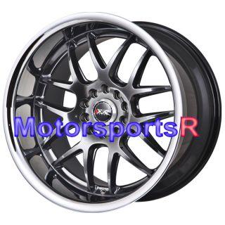 18 XXR 526 Chromium Black Rims Staggered Wheels 98 99 04 Ford Mustang