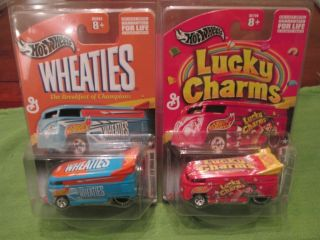 Hot Wheels VW Drag Bus Lot of 2 Wheaties and Lucky Charms