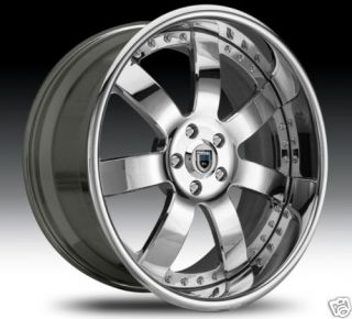 AF121 AF 121 Chrome Multi 2 Piece Rims Wheels Tires Package