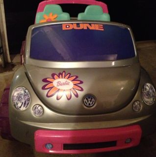 Power Wheels VW Barbie Beetle Battery Operated Ride on Car