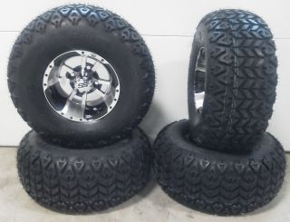 ITP SS112 Black Wheels 10 22x10 10 Golf Cart Tires 4 EZ Go Club Car