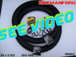 Bicycle 20x2 125 Bike BMX 2 Tire Tube Rimstrip Kenda 50