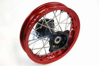 10 Red Rear Rim Wheel Honda XR50 CRF50 110 125 50 SDG SSR Bike