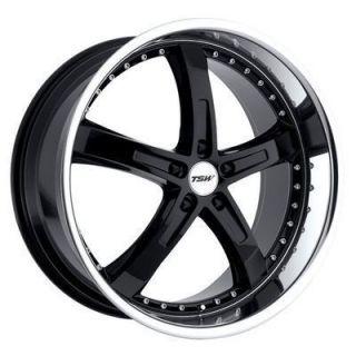 Jarama 20x8 5 5x112 20 Gloss Black w Mirror Cut Lip Wheels Rims