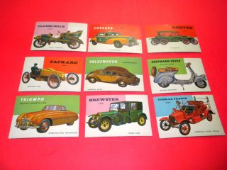 World on Wheels 9 Cards 117 149 Topps TCG 1953 Lot Cars Trucks and