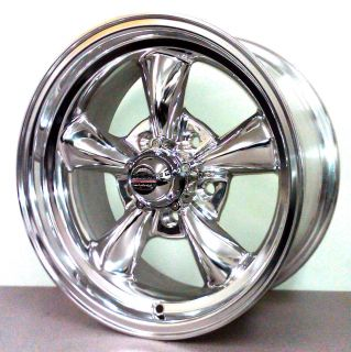 AMERICAN RACING TORQ THRUST CHROME WHEELS 15X7 & 15X8 FORD 5X4.5 BOLT