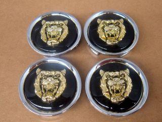 Jaguar Wheel Badge Center Cap Black and Gold Growler 4 MNA6249FA