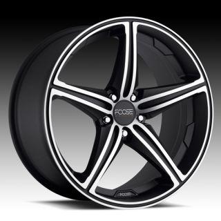 18 F136 Black FOOSE Speed Camaro BMW Staggered Wheels Rims