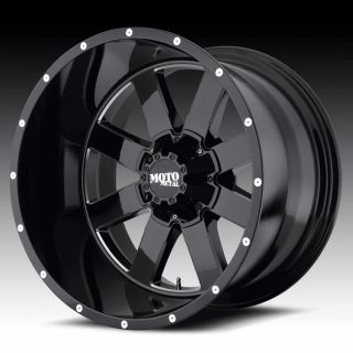 20 inch 20x9 Moto Metal Black Wheels Rims 5x5 5 5x139 7 Dodge RAM 1500