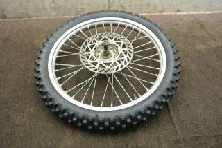 2001 01 Suzuki RM125 RM 125 Front Wheel Rim Tire Rotor Axle Hub