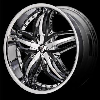 20 inch Diablo Angel Chrome Wheel Rim 5x112 Crossfire ml Class GLK