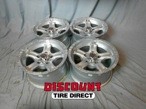 Used 15x8 5x127 5 127 Chaos 5 Silver Machined Wheels Rims