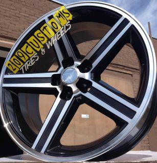 24 Black IROC Wheels 5x127 Silverado 1990 1991 1992 1993 1994 1995