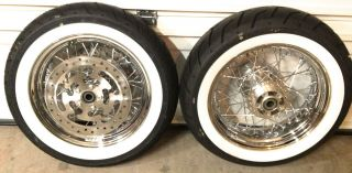 Davidson RoadKing Classic WHITEWALL tires and chrome spoked wheels NEW