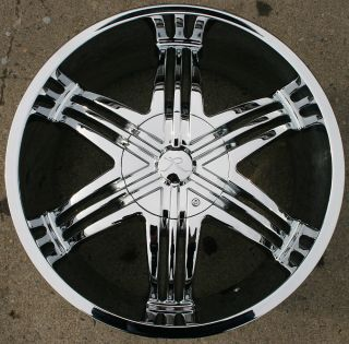 Sparus KR04 20 Chrome Rims Wheels GMC Envoy 6x127 Rainier