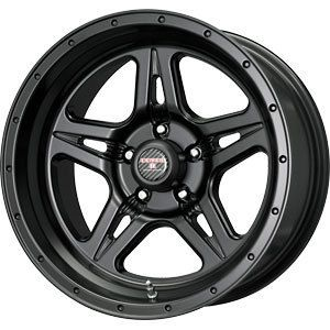 New 17x9 5x127 Level 8 Strike 5 Black Wheels Rims