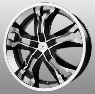 20 inch Verde Jaggedge Black Wheels Rims 5x115 cts de Ville DTS DTX El