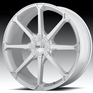 20 inch Helo Silver Wheels Rims 5x115 300C AWD Charger Challenger
