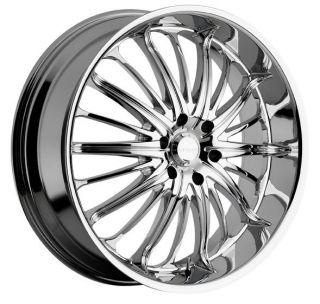 22 inch Akuza Belle Chrome Wheels Rims 5x115 15 Rwd