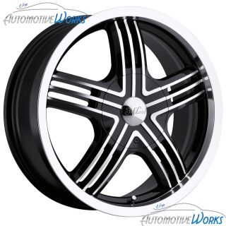 Milanni Stealth 5x115 22mm Black Machined Wheels Rims inch 17
