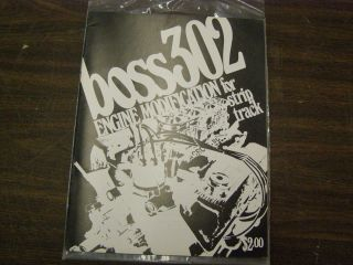 Original 1969 1970 Ford Mustang Cougar Boss 302 Catalogue Book