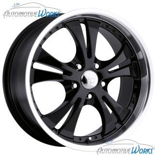 17x7 Vision Shockwave 5x110 42mm Black Wheels Rims inch 17