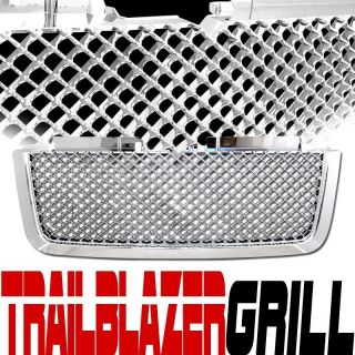 06 09 Chevy Trailblazer Mesh Chrome Front Grille Grill