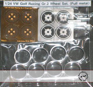 Alu Turned Rims PE Spokes for 1 24 Tamiya Volkswagen VW Golf GR 2