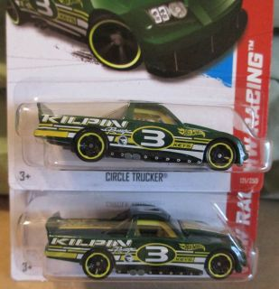 HOT WHEELS 2013 TREASURE HUNT CIRCLE TRUCKER HW RACING VARIATION SET