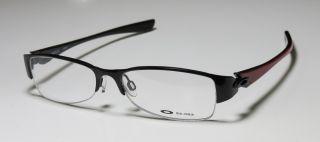 New Oakley Treaty 2 0 51 15 130 Black Red Half Rim Titanium Eyeglasses