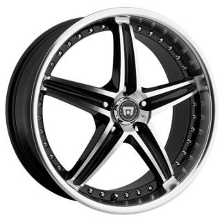 18 inch Motegi Racing MR107 Black Wheels Rims 5x120 42