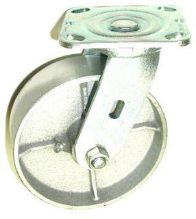 Heavy Duty Steel Wheel Swivel Plate Caster with 6 x 2 Wheel 800 lbs
