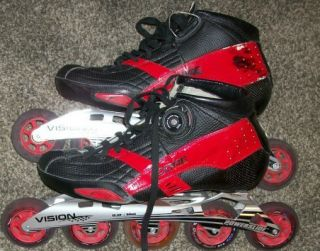 Speed Skates Size 12 Core boot, Matter wheels, Vision powerslide frame