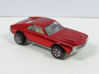 Hot Wheels Redline Custom AMX 1968 Red w Badge Extremely Nice