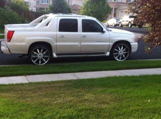 26 Chome Rims 6x139 135 Tires Chevy Ford Titan Denali White Inserts