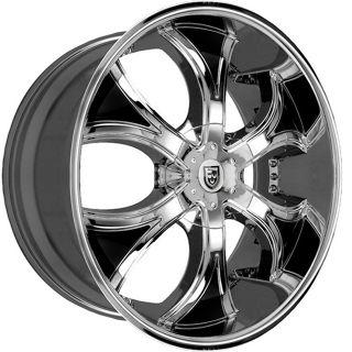 Lexani Dial Chrome Black Inserts 6x135 6x5 5 6x139 7 Wheel Rim