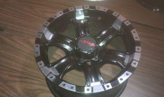 Chaos Black Machined 16x8 5 6x5 5 6x139 7 Wheel Rim Chevy