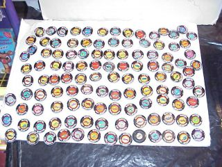 Huge Lot of 115 Mattel Hot Wheels Pin Back Red Line Car Metal Buttons