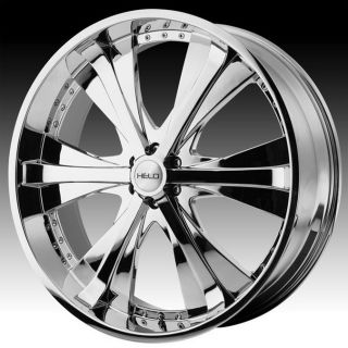 24 inch Helo Chrome Wheels Rims 6x5 5 6x139 7 30 Hummer H3 Escalade