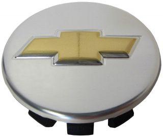 One Factory Chrome Finish Genuine Chevy Bow Tie Center Cap Emblem Hub