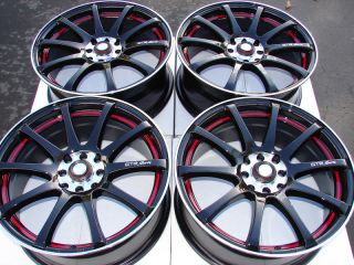 Black 4 Lug Wheels galant Forenza Accord Civic Tracer Fit Rims